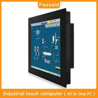 Wholesale Feosaid inch Industrial All in one pc Embedded mini computer touch screen computer Wall mounted bracket mounting PC