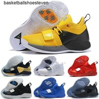 Wholesale optic yellow for sale - Group buy 2020 Paul George Optic Yellow Mens Kids Basketball Shoes Playstation Pg Wolf Grey Champion Black Men Desigenr Sneakers