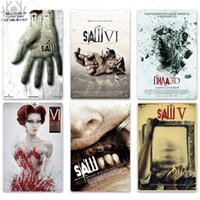 2021 Saw Movie Metal Poster Vintage Tin Sign Wall art painting Plaque Metal Vintage Retro Wall Decor for Man Cave Decorative Tin Sign