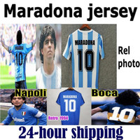 Wholesale green youth soccer for sale - Group buy 1978 Argentina Maradona home away Soccer jersey Retro Version Maradona Football Shirt Batistuta Naples Boca Youth bArCa