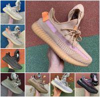TOP Quality 2021 Kanye West Men Women Carbon Running Shoes Sneakers Yecheil Cinder Tail Light Desert Sage Black Static Reflective Designer