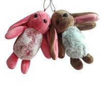 Wholesale small cute stuffed animals resale online - Kawaii Plush Keychain Rabbit Linen Cotton Stuffed Animals Bouquet Plush Dolls Cute Bunny Ear Car Bag Small Pendant Toys Gifts sqciQQ
