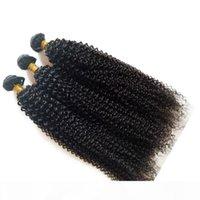 Wholesale dhgate resale online - Unprocessed European Brazilian virgin human hair cheap price pc kinky curl Malaysian Mongolian hair extensions DHgate