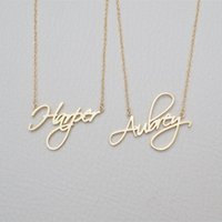 Wholesale customize chains for sale - Group buy Name Necklace Personalized Gift Customized Pendant Cursive Handwriting Stainless Steel Chain Custom Women Fashion Jewelry X912