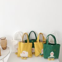 Wholesale lunch bag women for sale - Group buy new designer handbags embroidery crafts small and cute casual handbag lunch box wild fashion canvas ladies handbag