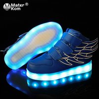 girls tpr sole shoe 2021 - Size 25-37 Children Glowing Sneakers Kid Luminous Sneakers for Boys Girls Led Sneakers with Luminous Sole Lighted Shoes 201201