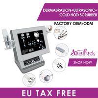 Hot selling 4in1 Ultrasonic DIAMOND MICRODERMABRASION DERMABRASION SKIN PEELING Hot Cold Hammer Ultrasound Beauty massager skin care device