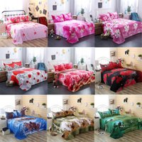 Wholesale 3d bedding set california king resale online - 3D Bedding Sheet Pillow Case Cover Set Flower Rose Lily Peacock Animal For Single Double Twin King Bed Home Textile Hot Sale