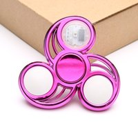 Wholesale figet toys for sale - Group buy Led Light Luminous Fidget Spinner Top Edc Figet Spiner Finger Hand Stress Relief Toys Gifts Kids Childen Adult S8T9