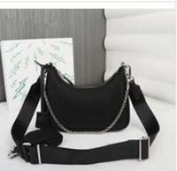 Wholesale small bag packs for sale - Group buy 2pcs set canvas hobo for women shoulder bag for women Chest pack lady Tote chains handbags presbyopic purse messenger bag handbags