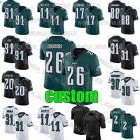 Wholesale football eagles for sale - Group buy Philadelphia Eagle Jersey Carson Wentz Travis Fulgham Custom Darius Slay Miles Sanders Cox Zach Ertz Football Jerseys
