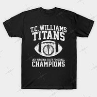 Wholesale champions shirts for sale - Group buy T C Williams Titans Football Champions T Shirt Remember The Titans Tee Denzel Hurd High School Football