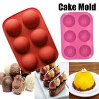 6 Hole Semi-Sphere Round Silicone Mold Hot Chocolate Bombs Cake Baking Mould