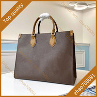 5A Best-selling lady genuine leather shopping Bag Tote Commuter bagss MM canvas Handbag the fashion Shoulder Bags with box B069