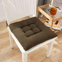 Wholesale offices chairs resale online - Solid Color Square Thick Soft Seat Cushion Moisture Absorber Breathable Chair Office Restaurant decorative pillows Home Decor GWF3496