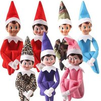 Wholesale 10 Styles Christmas Elf Doll Plush Toys Plush Elf Doll Elves Santa Dolls Clothes On The Shelf For Christmas Gift