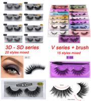 Topselling 3D Imitated Mink eyelashes 20 styles mixed randomly with brush False Eye lashes Soft Natural Thick Fake Eyelash Park888