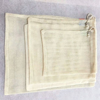 Wholesale organic cotton cloth for sale - Group buy Cotton cloth organic pure cotton net bag Cotton net storage bag Fruit vegetable coffee bean storage bags