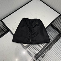 21SS New Women Skirts Fashion Matching Nylon Inverted Triangle Style Trendy Women Sexy Short Dresses High Quality Black Color Size S-L