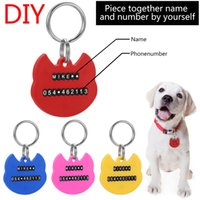 letters for diy dog collars 2021 - DIY Pet ID Tags Number Letter Plastic Personalized Dog Collars Name ID Tags Pet Collar Tags for Pet Tag