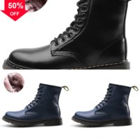 Wholesale goth boots for sale - Group buy winter Non slip Doc Shoes dr UpPU Leather Lace Plus Sizefor designer luxury blackboots classic mujer Goth Ankle boot Women