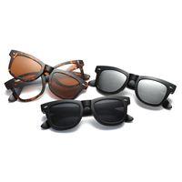 Wholesale clip sunglasses resale online - Magnetic Clip on Sunglasses Women Men Square Polarized Anti Reflective Glasses Bendable Flexible Custom Myopia Frame Eyewear