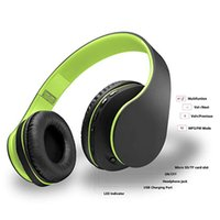Wholesale micro ear bluetooth resale online - Bluetooth Headphones Over Ear Foldable Lightweight Stereo Headset Micro SD TF FM for CellPhone PC Travel Soft Earmuffs forProlonged Waring