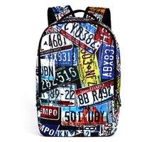 Wholesale shool backpack resale online - Graffiti Rucksack Travel Men Backpack inch Leisure Bag Outdoor Shool Bags Mochilas Bolosos Student Bookbag