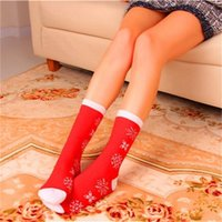 Wholesale mens compression socks for sale - Group buy Christmas Warm Women Mens Socks Combed Cotton Cartoon Sock Autumn Winter Casual Long Adult Compression Sock