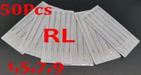 Drop Shipping 50PCS PACK 1RL 5RL 7RL 9RL ASSORTED STERILE TATTOO NEEDLES DISPOSABLE SUPPLY