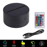 RGB USB Cable Touch Lamp LED Lamp Base 3D Night Light Acrylic Plate Panel Holder Remote USB Cable