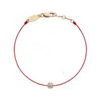 B01-001E Red Thread Redline Bracelets Women Plum Flower Black Rope Bangles For Christmas Gift F1201