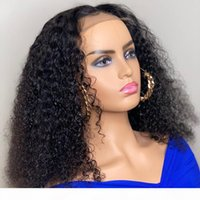 Wholesale kinky curly lace front closure resale online - Short Bob Wig x6 Kinky Curly Wig Lace Front Human Hair Wigs For Women Brazilian Remy Glueless Pre Plucked Lace Closure Wig
