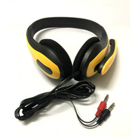 Wholesale headphone mp3 player resale online - 3 mm Stereo Gaming Headset PC Game Headphone Bass Earphone With Mic For Computer Gamer MP3 Player Headsets