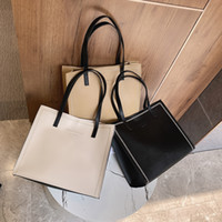 Wholesale women work bags for sale - Group buy Large Capacity Soft Tote Bags For Women Design Shopper Female Shoulder Bags A4 Work PU Leather Handbags