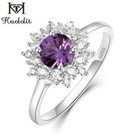 Wholesale alexandrite rings for sale - Group buy Kuololit Alexandrite Gemstone Rings for Women Solid Sterling Silver Color Change Stone Ring New Arrival Fine Jewelry Z1118