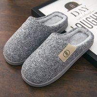 Discount boys winter slippers Classic Women Winter Warm Fur Slippers Men Ladies Boys Girls House Shoes Comfort Flat Heel Home Indoor Bedroom Zapatilla Mujer 201125