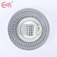 Luxury Porcelain Tableware with Logo Porcelain Tableware for Desserts Kitchenware Round Trays for Weddings and Banquets
