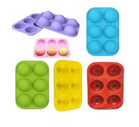 Semi Sphere Silicone Chocolate Mold with 6-Cavity, Baking Mold for Making Hot Chocolate Bomb, Cake, Jelly, Dome Mousse