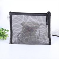 Wholesale case net online – custom eTya Travel Cosmetic Bag Zipper Transparent Net Toiletry Kits Storage Pouch Female Gir Beauty Makeup Pouch Case