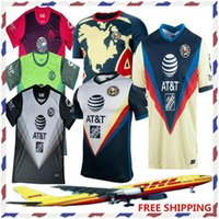 Wholesale soccer flashing for sale - Group buy new DHL Club America soccer Jerseys home away LIGA MX Club America soccer Jerseys Size can be mixed batch
