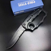 Wholesale Cold Steel B098 Knuckle Tactical knife Spring Quick open Folding Pocket Knife Camping Outdoor Survival Self Defense Tool aluminum handle