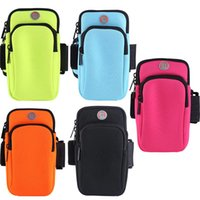Discount waterproof arm phone holder Waterproof Universal Running Gym Sport Armband Case Mobile Phone Arm Band Bag Holder for Plus Hand Sports Outdoor Arm Bag