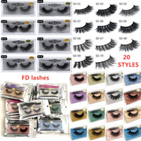 Wholesale natural eyelash extensions resale online - 20style d Mink eyelash False Eyelash Soft Natural Thick d mink HAIR false eyelash natural Extension d Eyelashes DHL