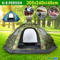 Wholesale 6 person tent for sale - Group buy 6 Person Backpacking Tent Auto Setup Outdoor Camping Season Tent Home Double Layer Waterproof Anti UV Hiking Trekking
