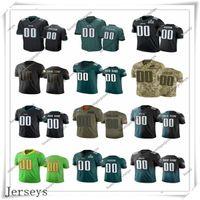 Wholesale football eagles resale online - Custom Philadelphia Eagles Men Women Youth Kids Any Name and Number Black White Gray Green Football Jerseys