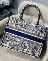 Top Quality Designer Bags Shopping Bag Grey Tiger Embroidery Original Canvas Tote Big Capacity Trip Handbag