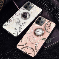 Wholesale apple diamond ring resale online - Luxury Diamond Clock D Ring Stand Case For iPhone Pro Max XS XR Samsung S10 Plus S20 Ultra A51 A71 Note A10 A20 A30 A50 A70