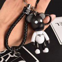 Wholesale antique compass pendant resale online - Violence Female Cute Net Red Cartoon Bear Doll Car Key Chain Couple Schoolbag Pendant OJM0