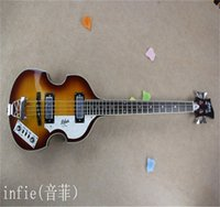 Wholesale guitar base for sale - Group buy Brand Classic Bases Guitar Since Strings Fret Electric Bass Guitar Flame Maple Made In USA